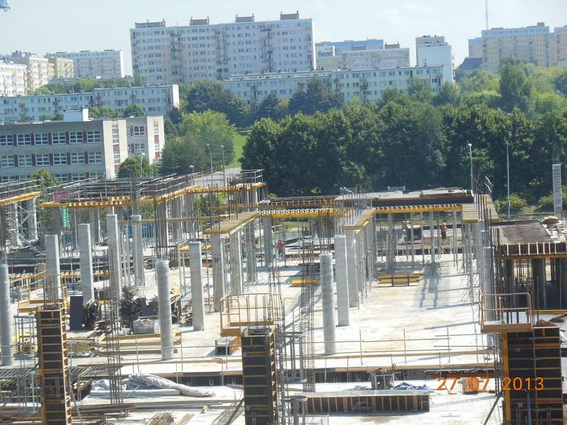 centrum handlowa budowa